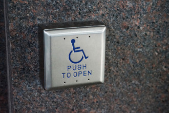 Accessible door button