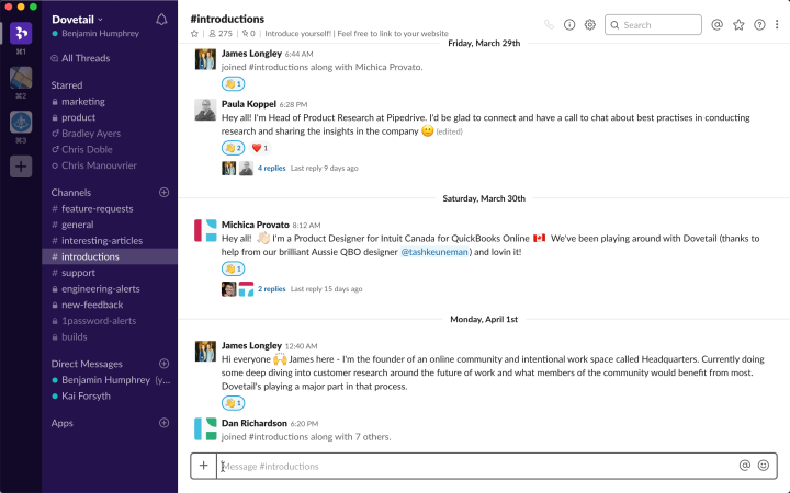 A Slack community for your product is a great way to encourage people to post feedback.
