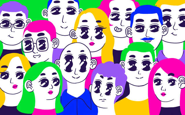An illustration of a group of people.