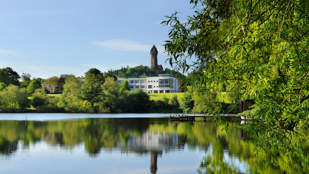 University of Stirling lake and castle