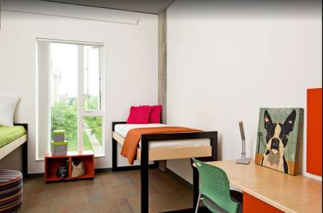 International Living Learning Center accommodation interior at Oregon State University