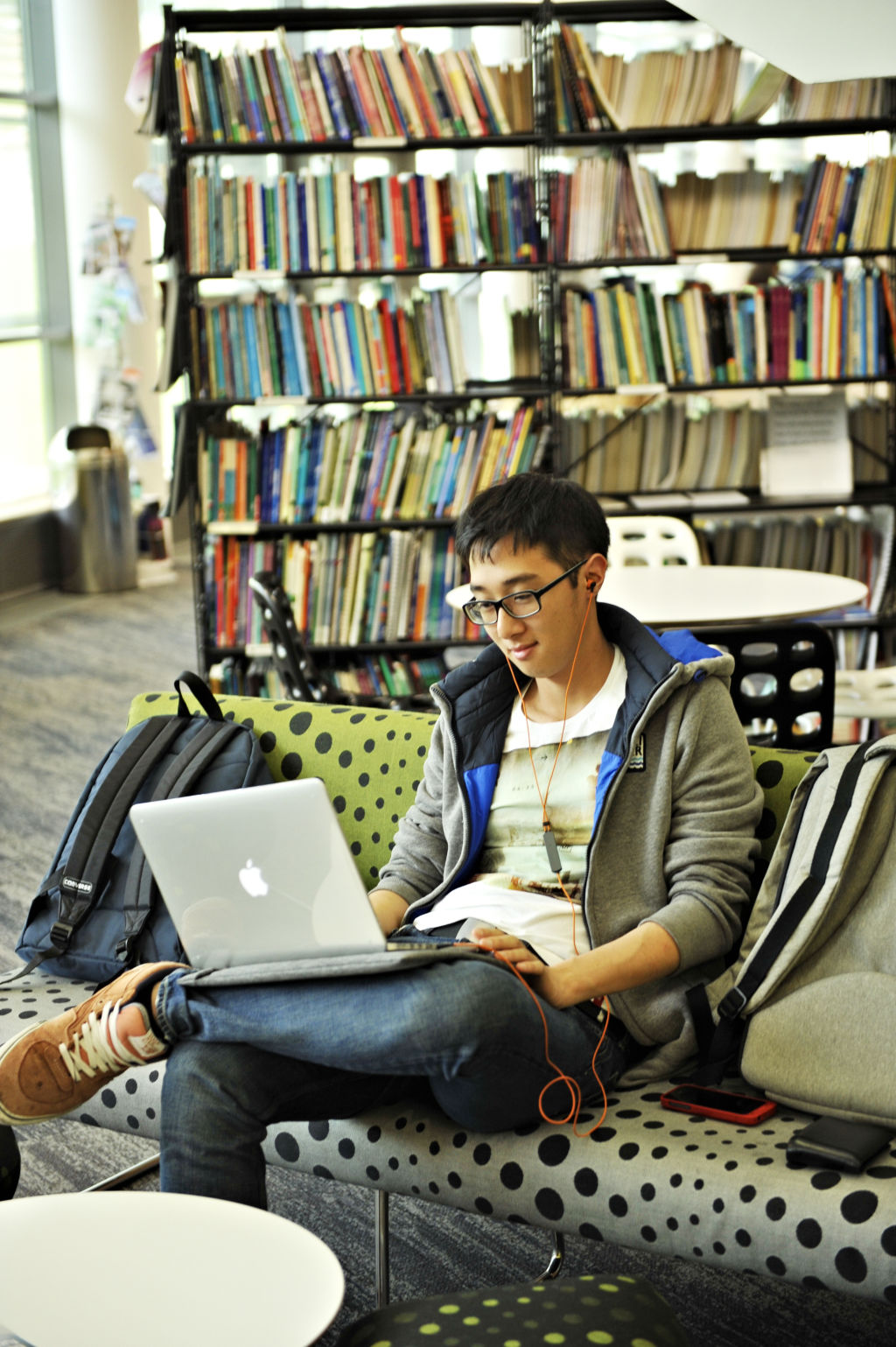 Student working in the Learning Resource Centre
