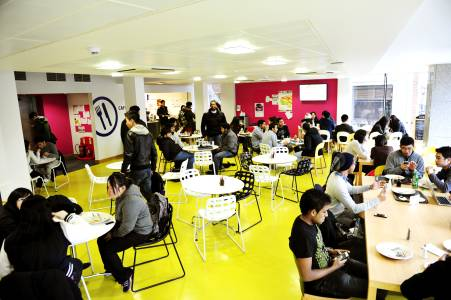 Eat and socialise at the INTO Centre café