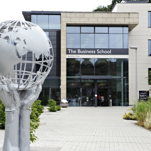 Exterior of Business School Building at University of Exeter