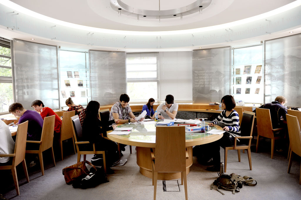 Students studying at Queen's University Belfast