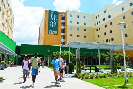 Juniper Hall residence hall at University of South Florida