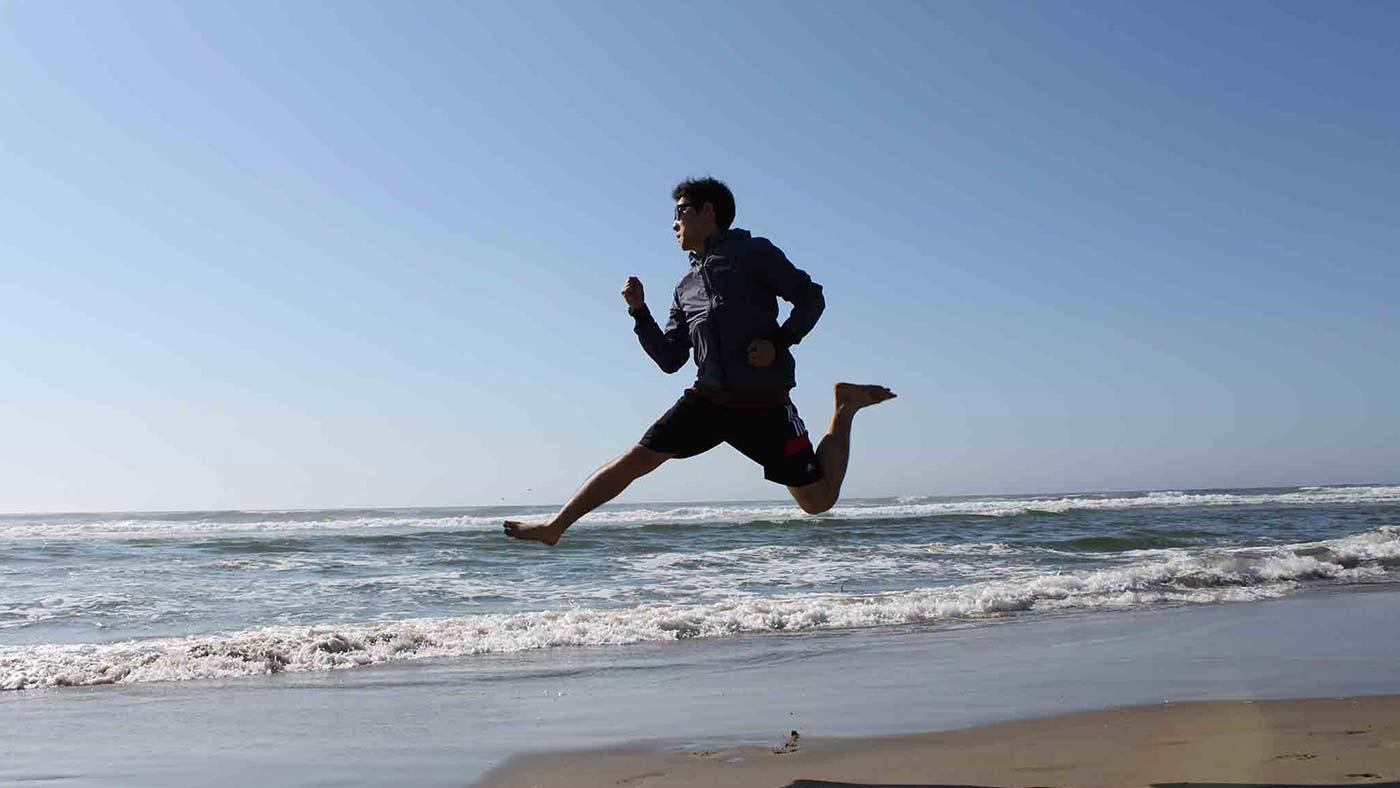 OSU Student at Beach