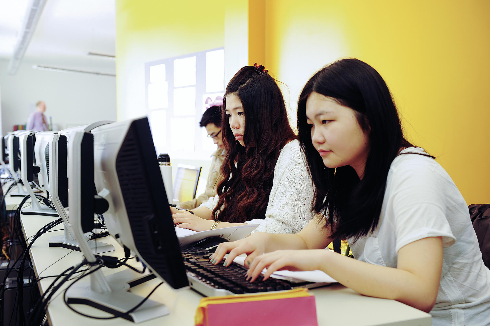 Students working in the Learning Resource Centre
