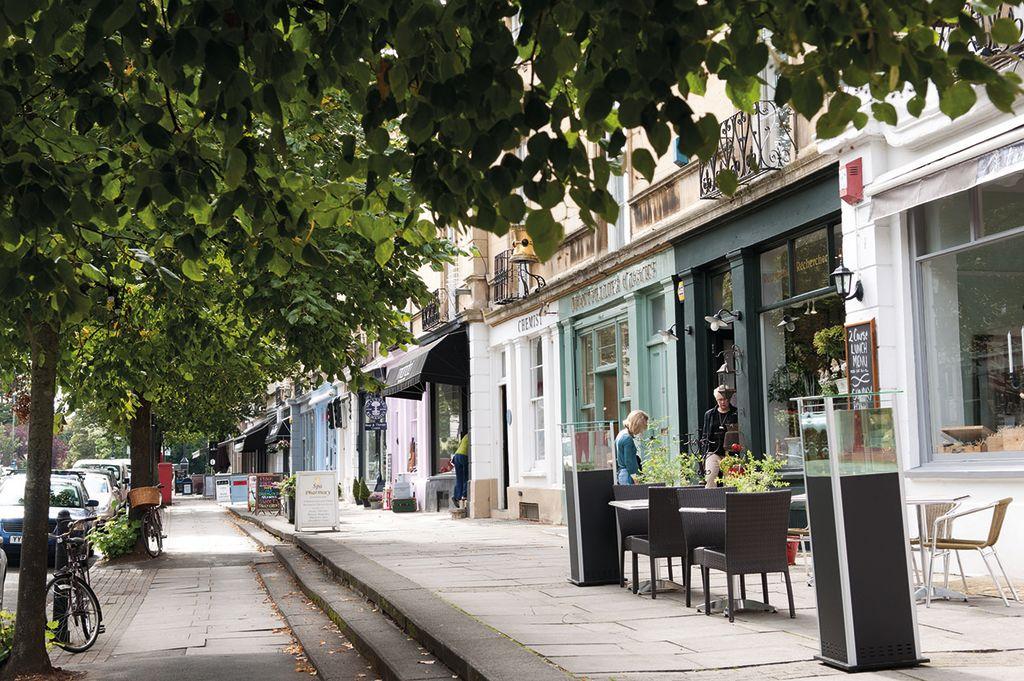 Cheltenham Town Centre parade of shops