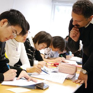 International students being given help with their English