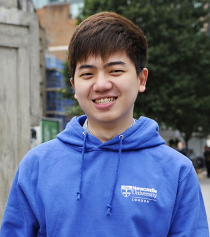 Photo of international student Henri at Newcastle University London