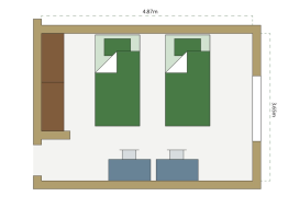 First year floor plan for accommodation at Marshall University