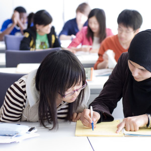 INTO international students in class