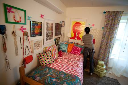 Accommodation for residence hall room at Drew University