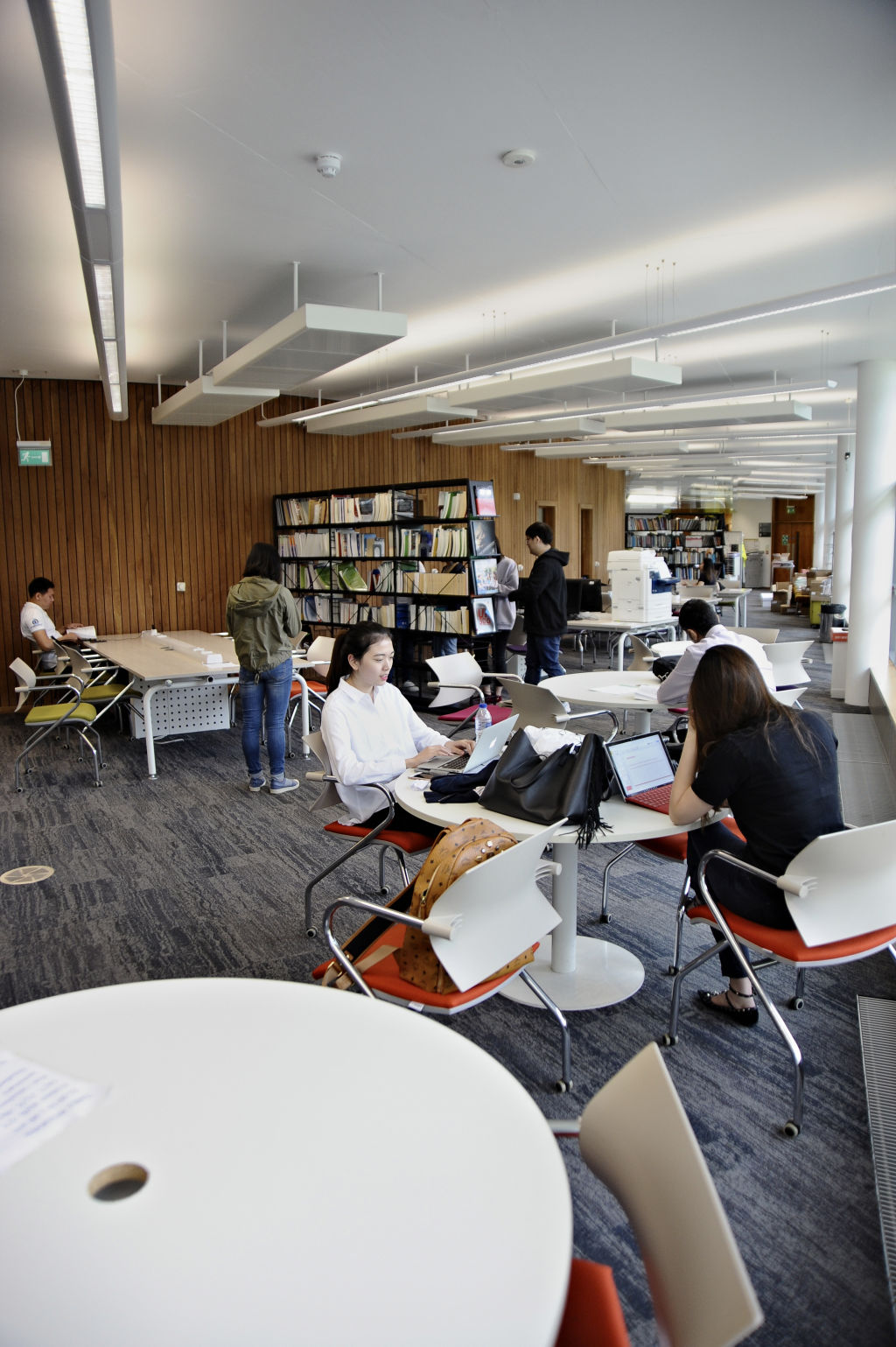 Students studying in the Learning Resource Centre