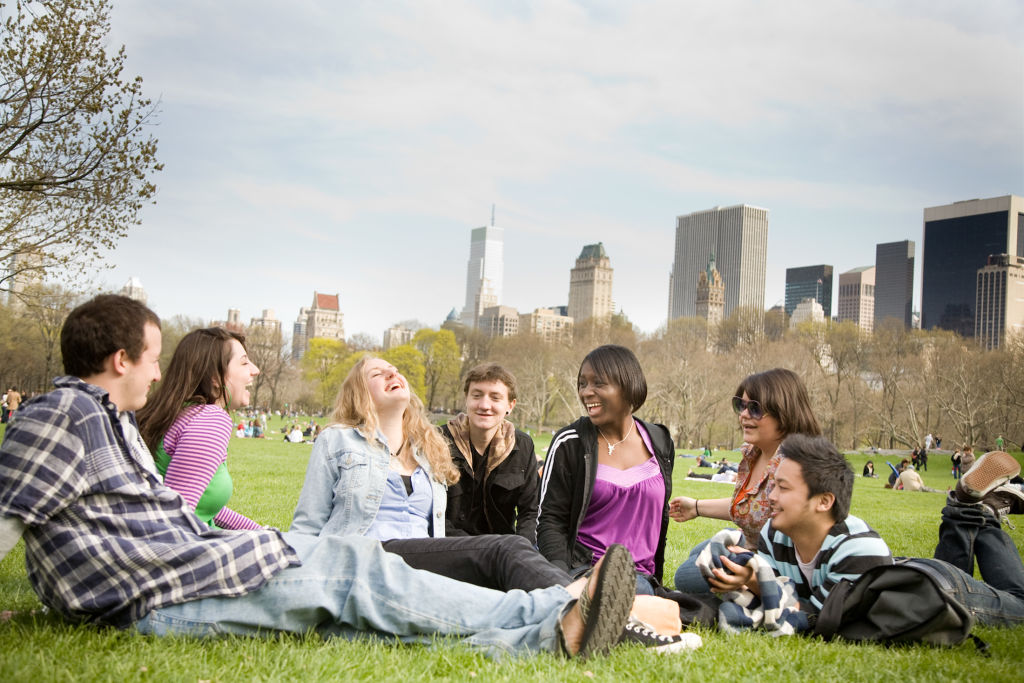 Drew Students at central park