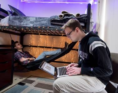 Study and relax in an Illinois State University residence hall