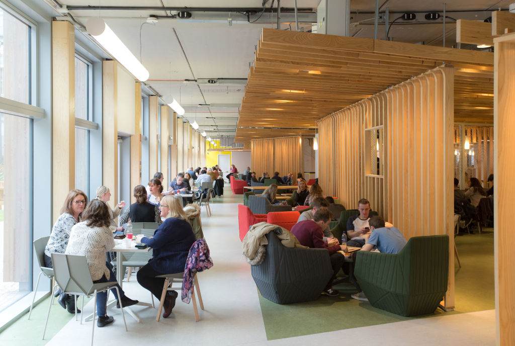 Study spaces at Glasgow Caledonian University