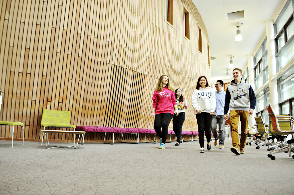 INTO Students walking through the Centre