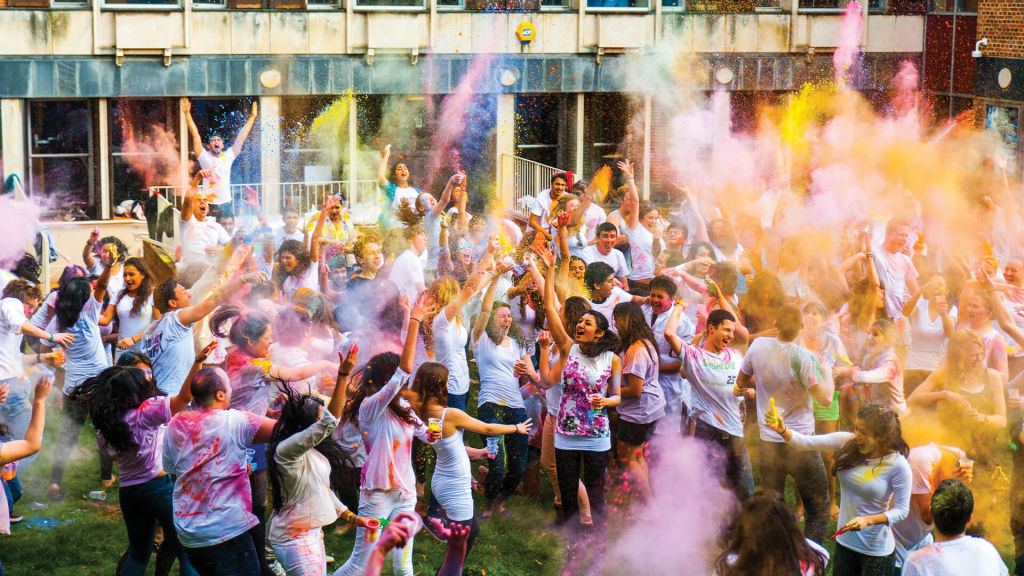 Holi celebration at University of Exeter