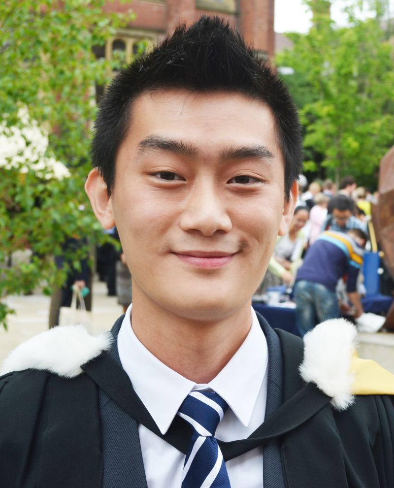 Photo of international student Yong Jun at INTO Newcastle University