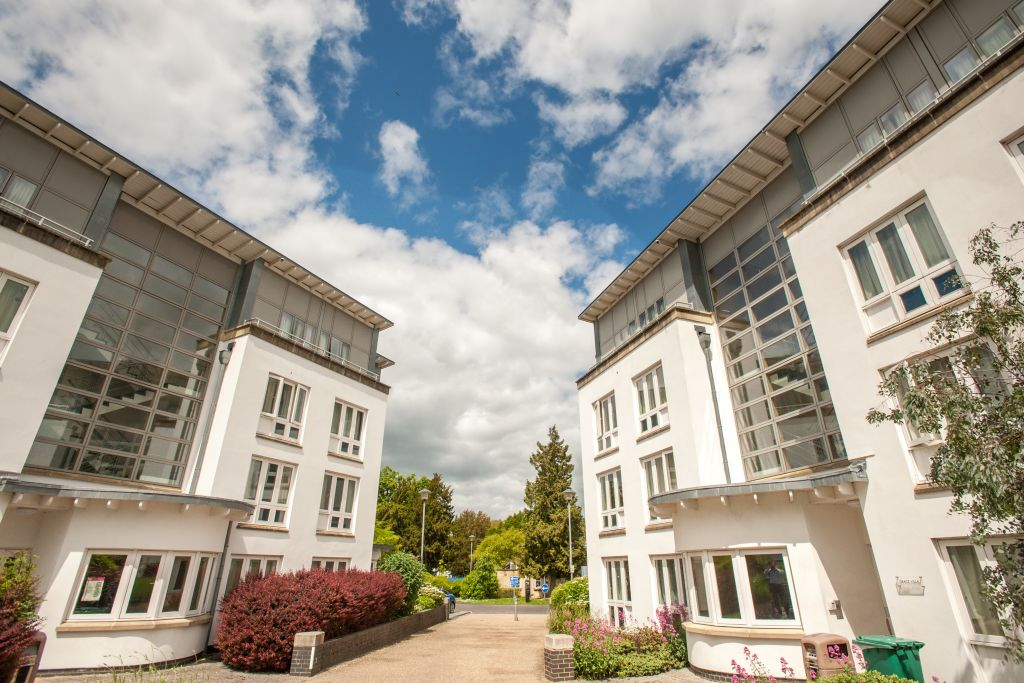 View of student accommodation at the University of Gloucestershire