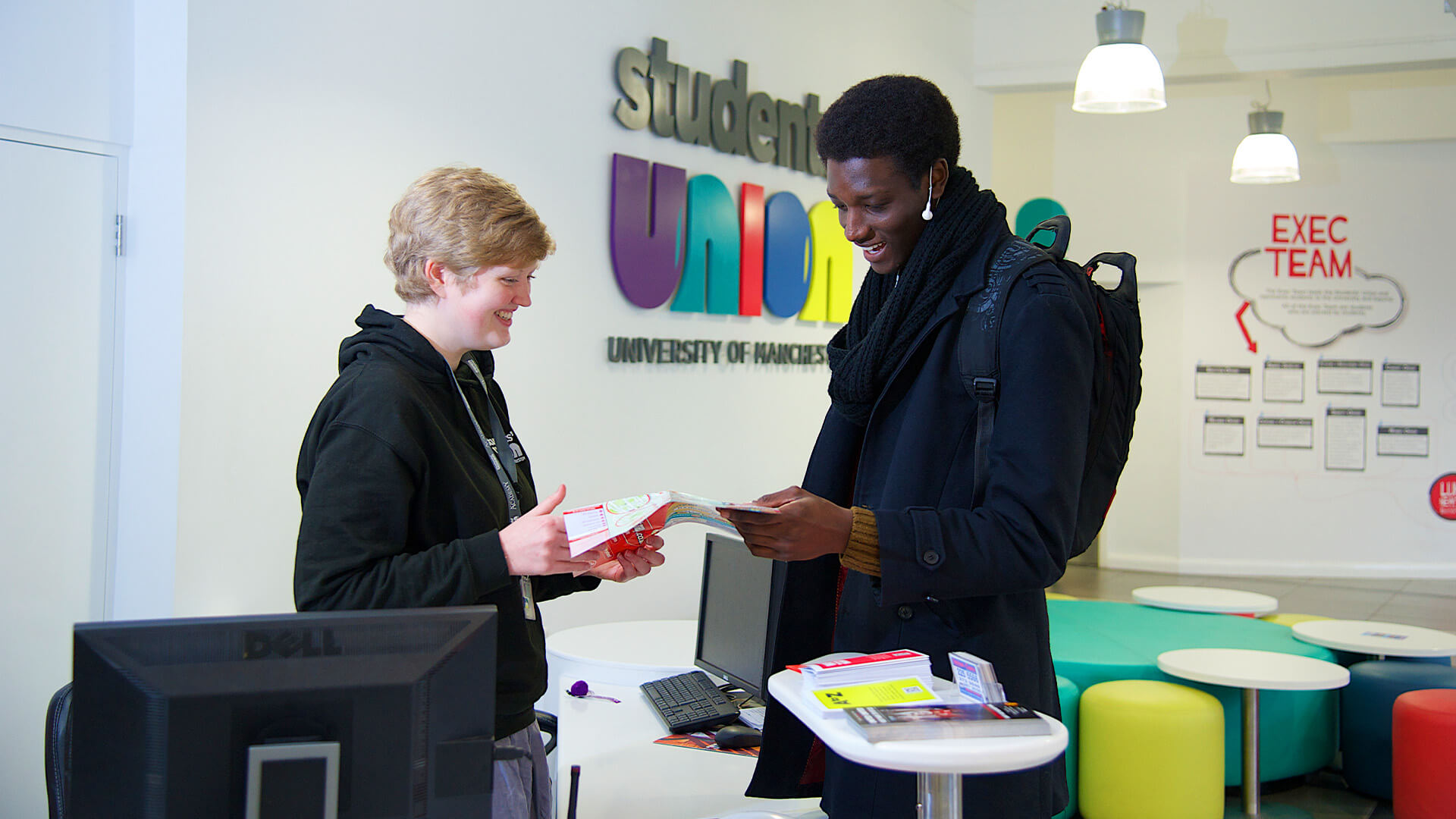Placed at the heart of campus, the University of Manchester Students' Union is the hub of student life