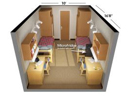 Rogers Hall Double Room Floorplan