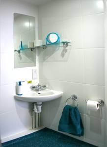 En suite bathroom at The Craft Building London student residences