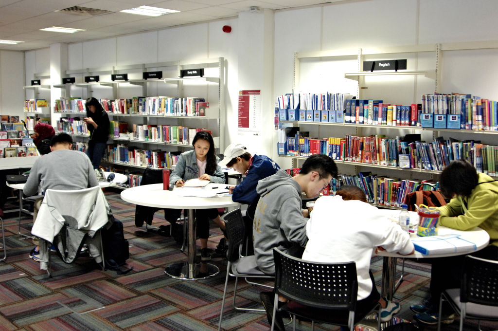 International students using the Learning Resource Centre