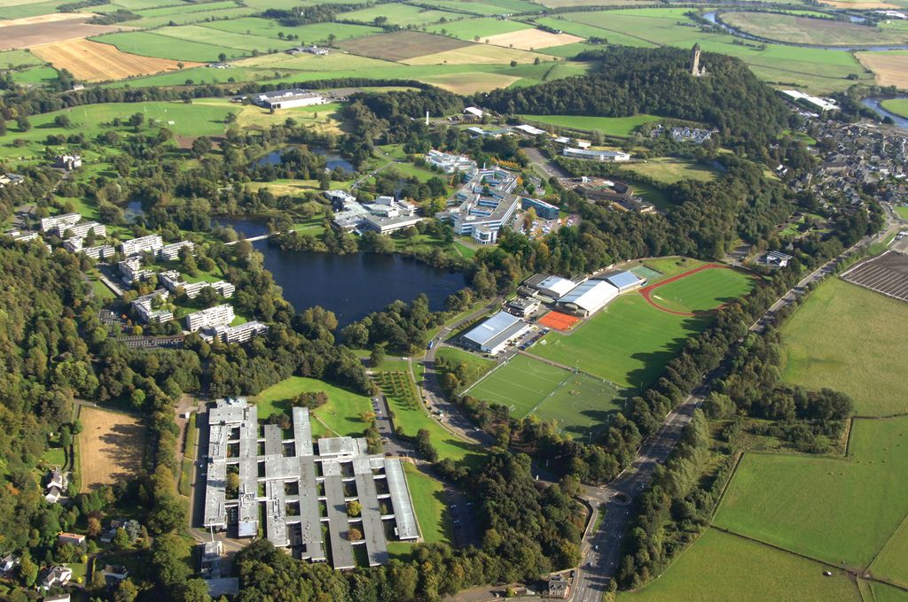 Aerial view of the University of Stirling