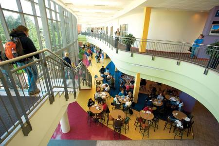 Busch Student Center atrium at Saint Louis University