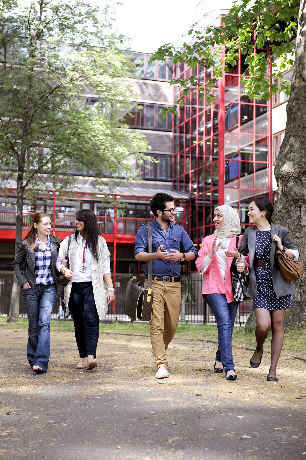 Students walking outside City, University of London