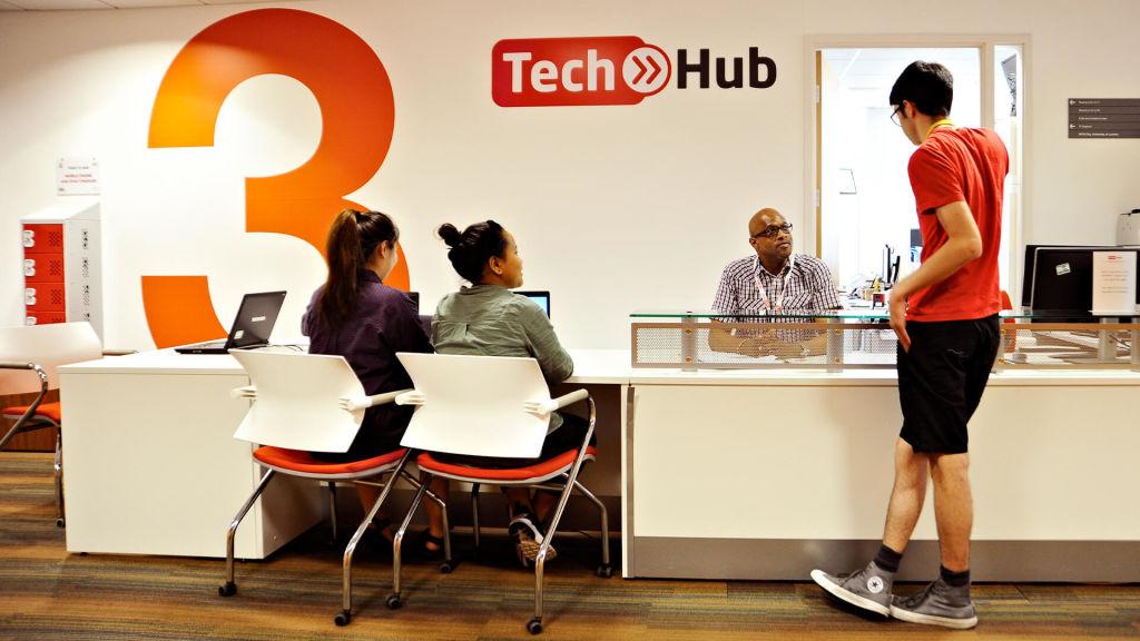 Tech Hub desk