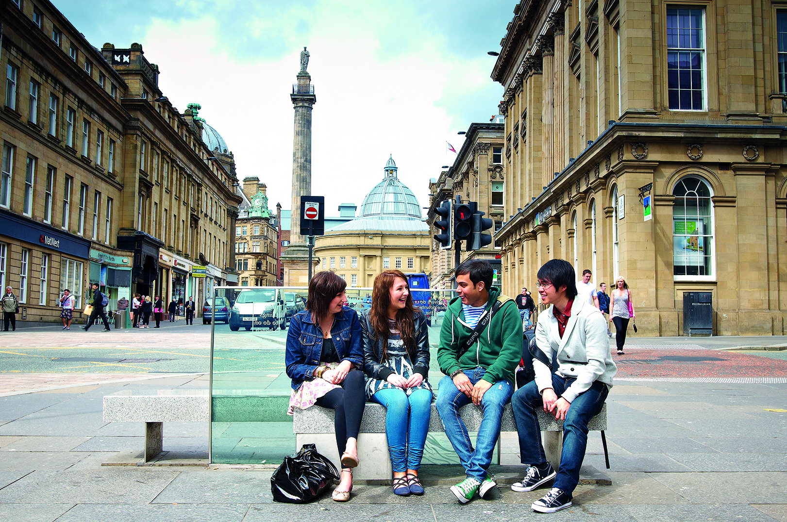 Students in Newcastle city centre