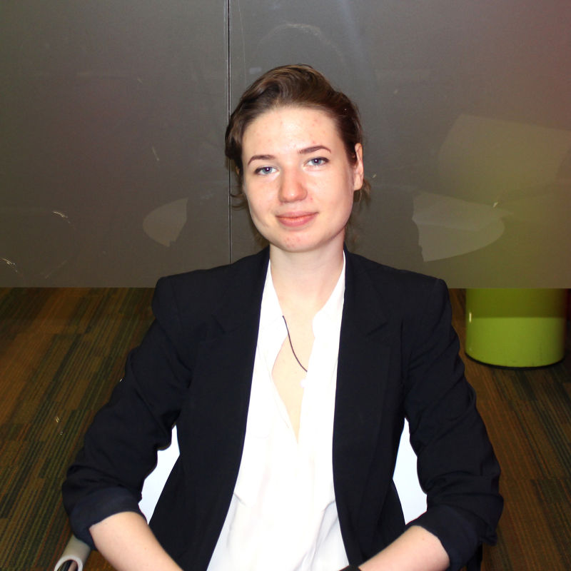 Photo of international student Elena at INTO City, University of London