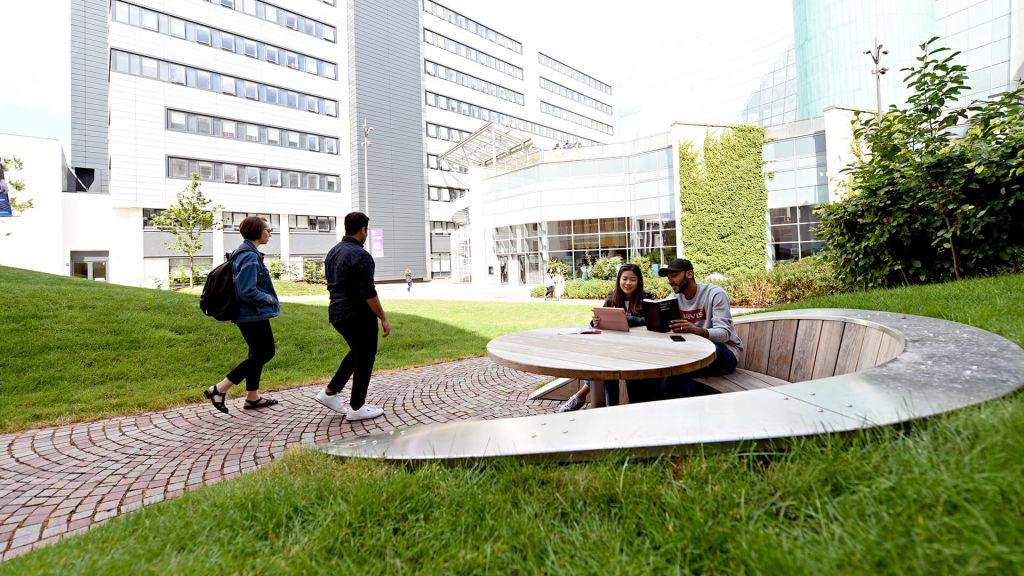 Outdoor area at Glasgow Caledonian University