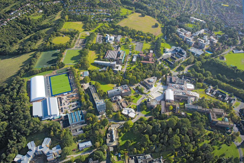 View of the University of Exeter campus