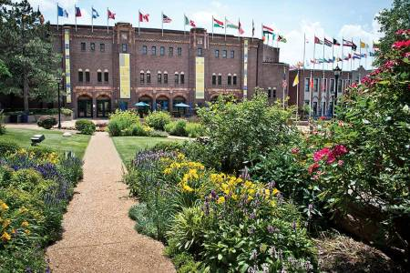 Center for Global Citizenship garden at Saint Louis University