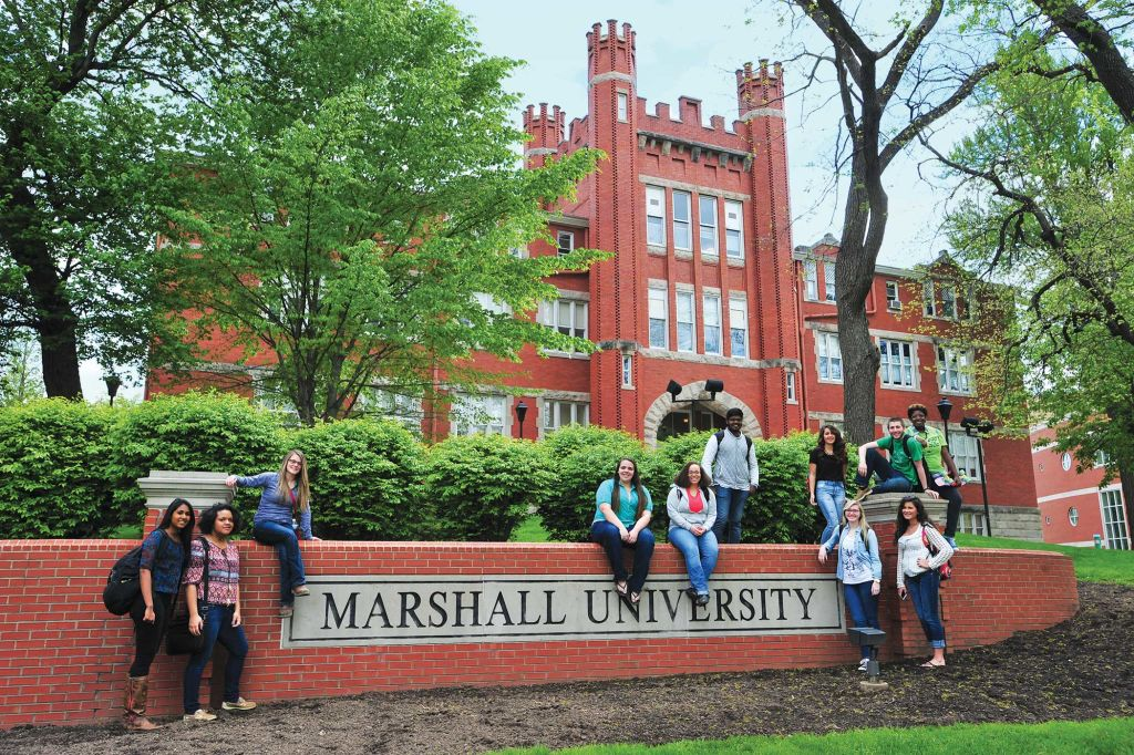 INTO Marshall students front of school