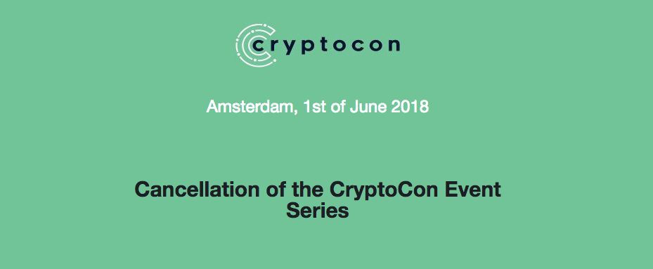 CryptoCon 2018 event is cancelled
