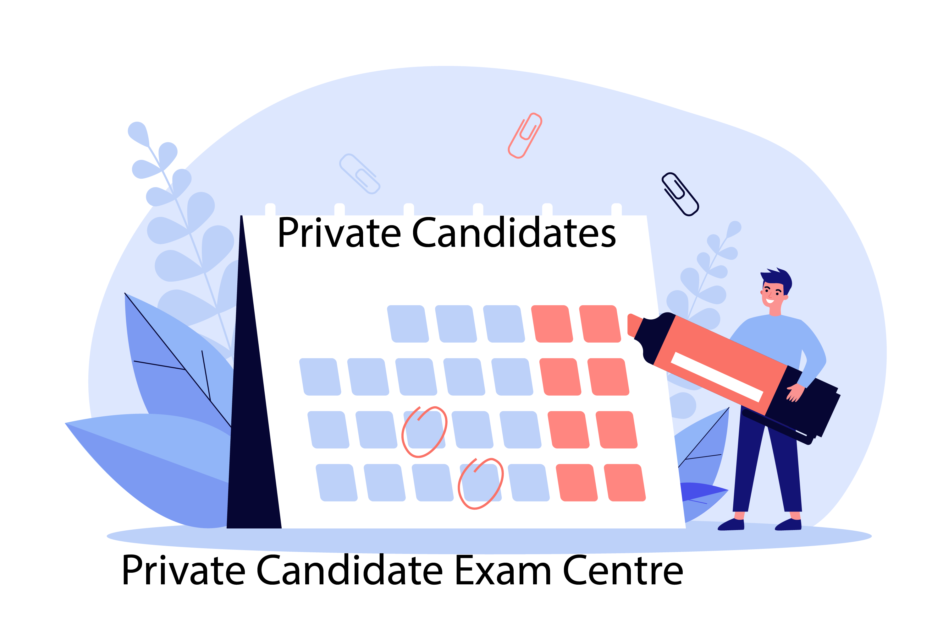 Private candidate exams calender