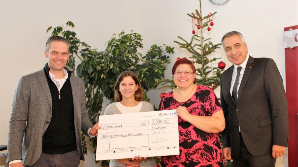 """Spenden statt Geschenke"""": <br>2000 Euro der Netze BW für Lebenshilfe ..."""