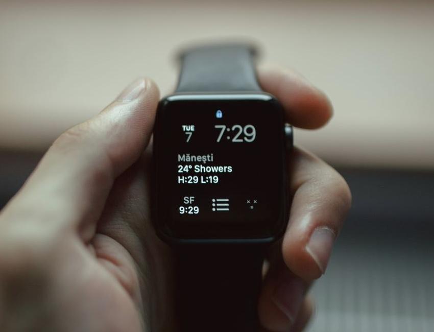 Smart watch showing sleep information
