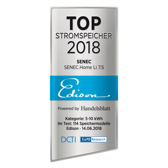 Siegel Edison Top-Stromspeicher