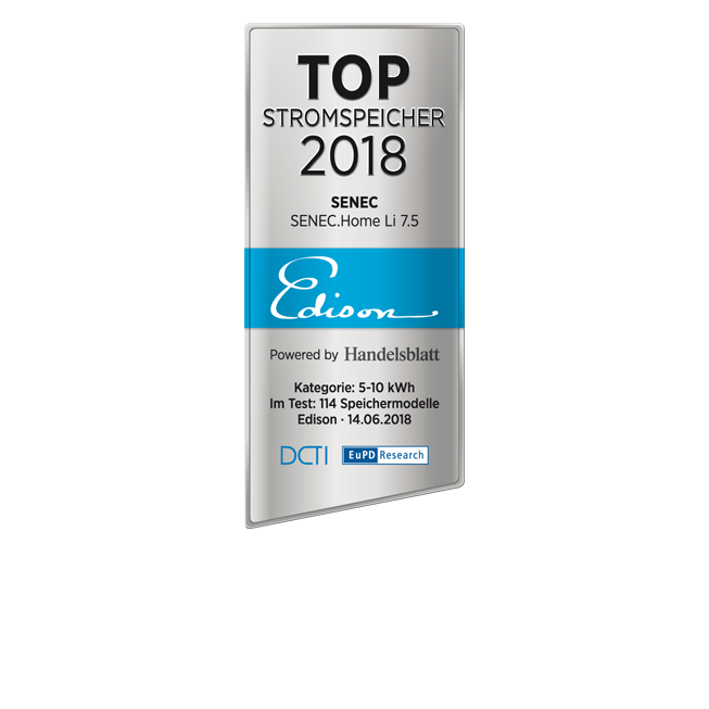 Edison-Siegel Top Stromspeicher 2018