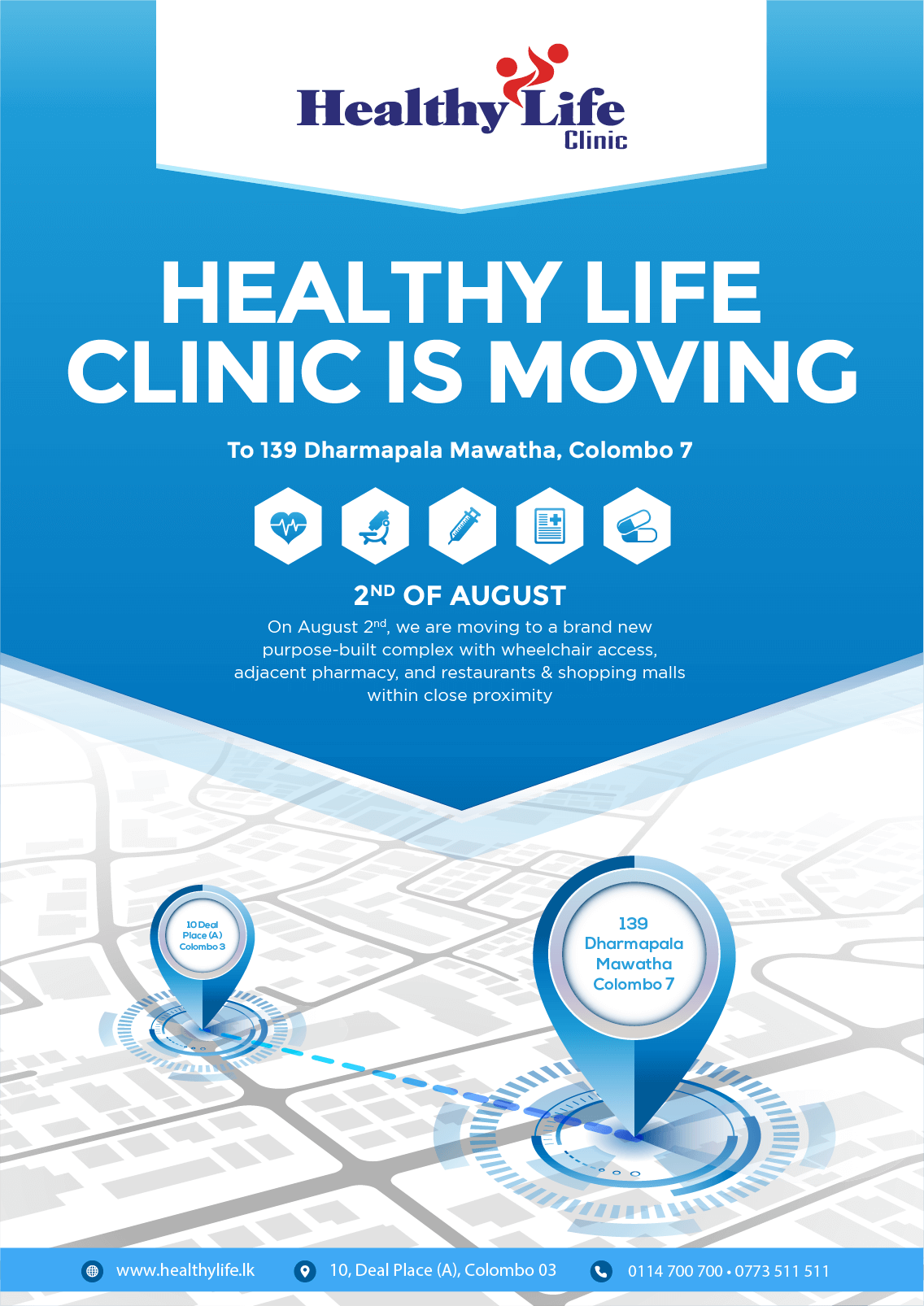 Healthy Life Clinic Moving Day Flyer