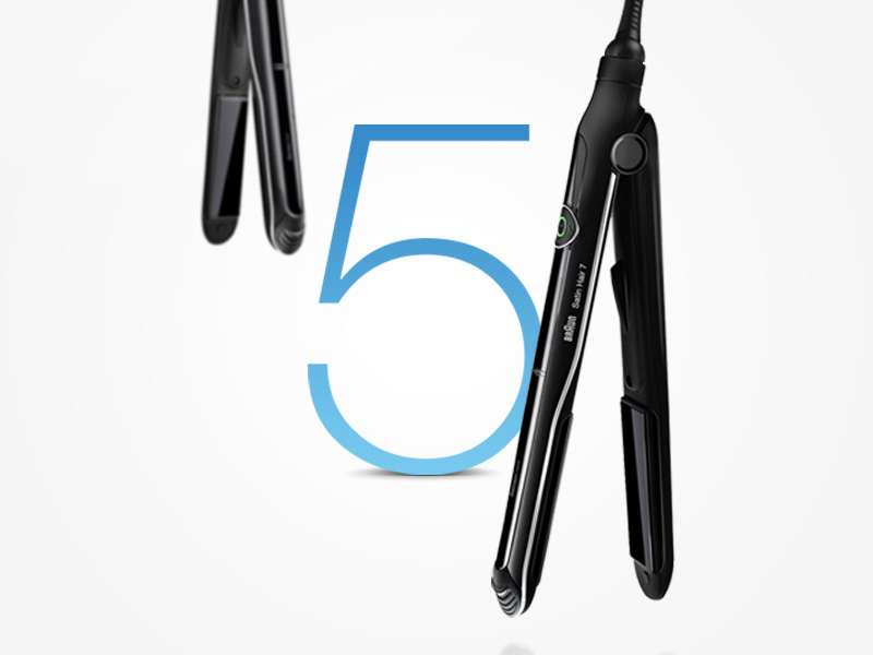 5 benefits of Braun Satin Hair 7 SensoCare with intelligent display