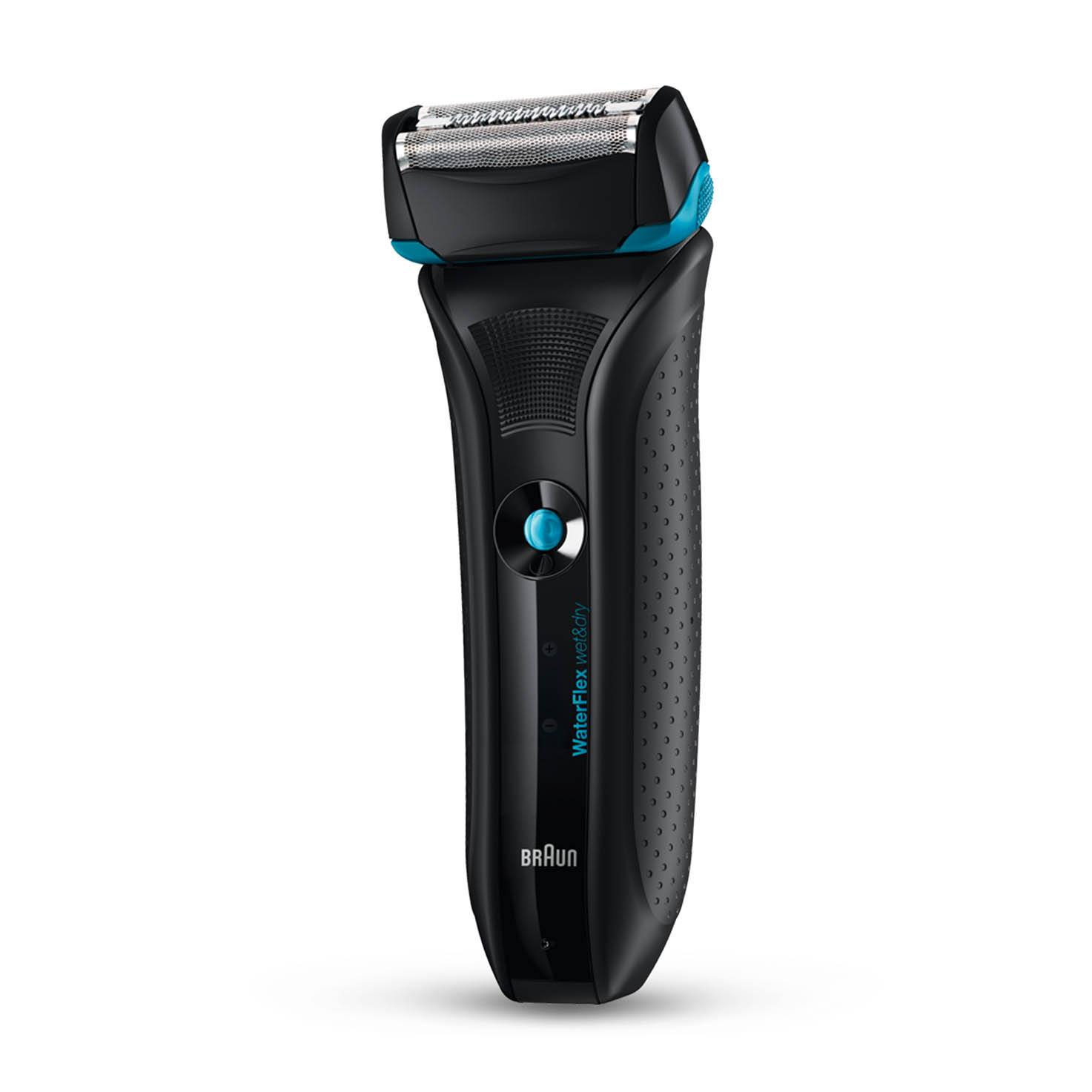 Braun WaterFlex WF2s black Wet & Dry shaver with swivel head