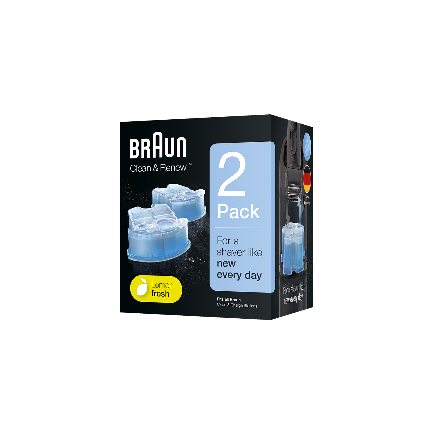 Braun Clean & Renew refill cartridges  CCR - 2 Pack
